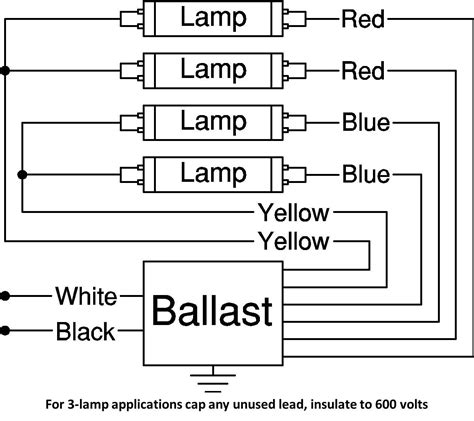 8 foot ballast for fluorescent lights wiring diagram led