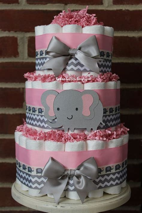 Pink And Grey Elephant Baby Shower Decorations by 25 Best Ideas About Baby Shower Diapers On