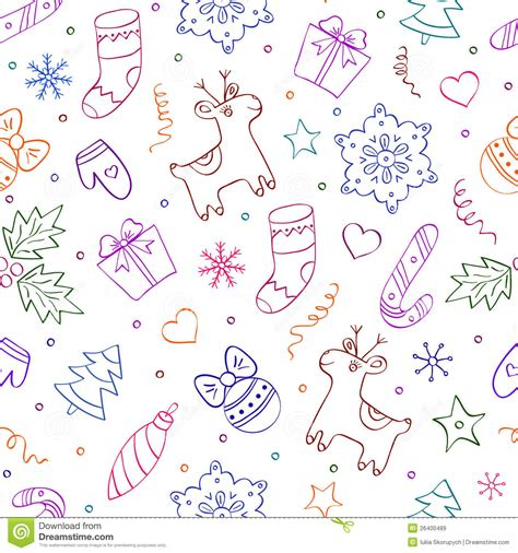 christmas pattern white background christmas seamless pattern on white background stock