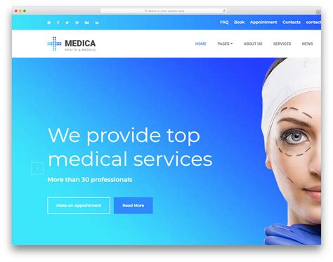 25 Free Doctor Website Templates With Neat Design 2019 Uicookies Doctor Website Template Free