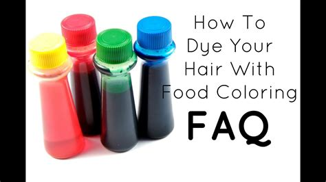 food coloring hair dye faq how to dye your hair with food coloring
