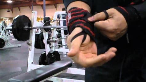 bench press wrist straps barbell bench techniques how to use wrist wraps youtube