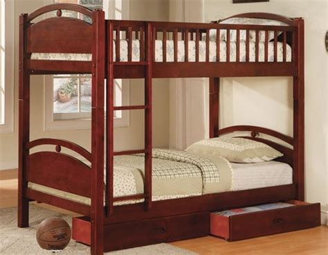Duncan Cherry Wood Twin Bunk Bed Bunk Beds In Los Angeles Cherry Wood Bunk Bed