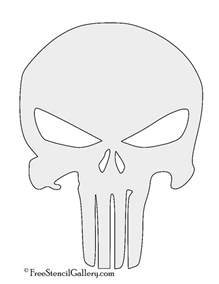 Printable Skull Template by Punisher Skull Symbol Stencil Free Stencil Gallery
