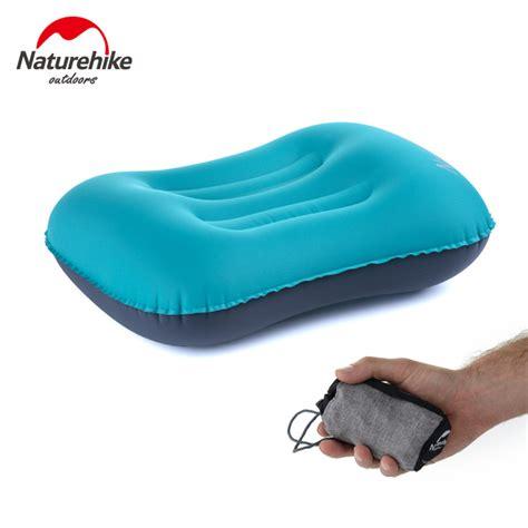 Naturehike Bantal Angin Aeros Pillow naturehike outdoor sleeping gear portable pillow travel aeros pillow neck protective