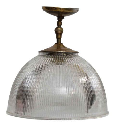 Brass Holophane Short Pendant Light Olde Good Things Holophane Pendant Light