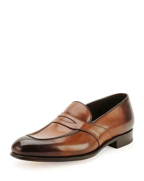 tom ford mens loafers tom ford charles loafers in brown for lyst