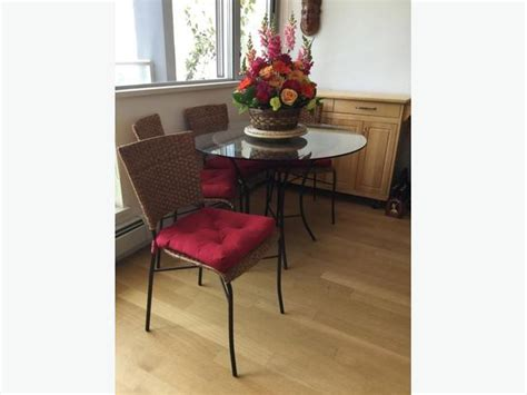 wicker kitchen table and chairs vancouver city vancouver