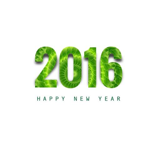 new year green shiny green new year 2016 text vector free
