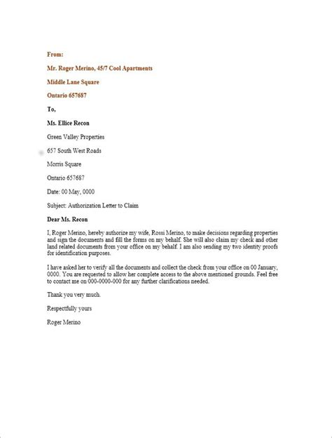 authorization letter format to attend court hearing 40 authorization letter sle templates free pdf word