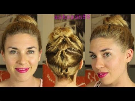topsy tail bun top knot easy everyday hairstyles