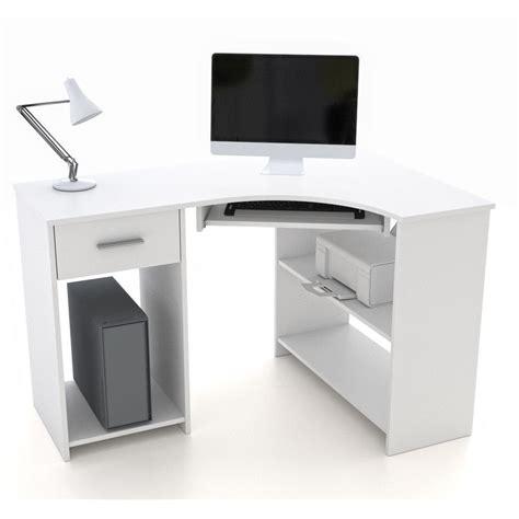 schmaler computertisch eckschreibtisch mit tastaturauszug schreibtisch computer