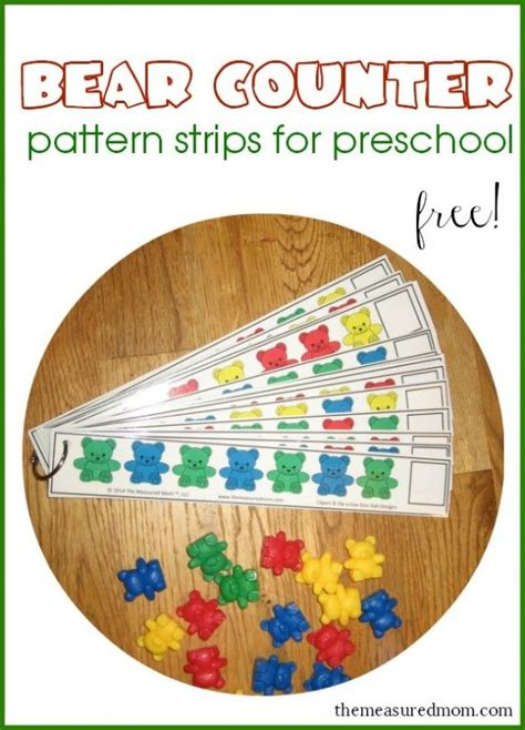 pattern games for 5 year olds free bear counter pattern strips for preschoolers led