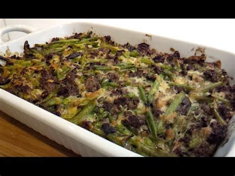 recipetips now hamburger casserole green bean and hamburger casserole low carb dr poon