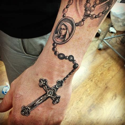 holy rosary tattoo designs 18 wonderful rosary tattoos on