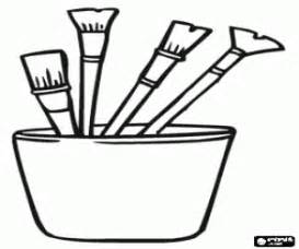 Big Paint Brush Coloring Page Coloring Pages