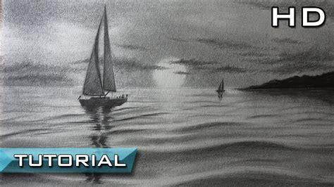 imagenes de barcos a lapiz c 243 mo dibujar un velero en el mar a l 225 piz paso a paso