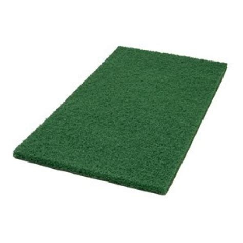 14 quot x 20 quot green rectangular floor top coat scrub pads of 5