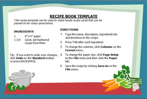 recipe book template 14 recipe book templates free word templates