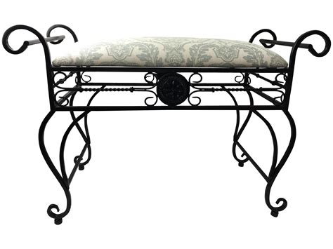 Wrought Iron Vanity Bench wrought iron vanity bench chairish