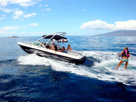 speed boat surfing wakeboarding 171 wake maui