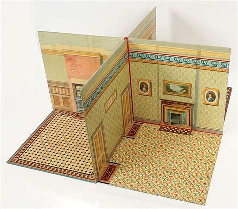 h m home dollhouse mcloughlin brothers folding table top dollhouse patented 18