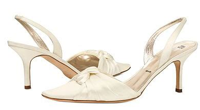 Vera Kitten Heels In White wedding shoes flare