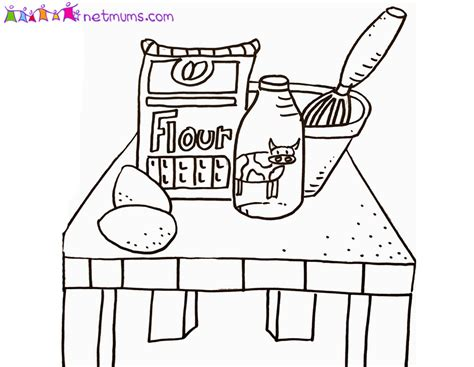 Free Coloring Pages Of Pancakes Pancake Colouring Pages