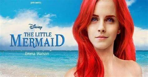 little mermaid film emma watson emma watson as the little mermaid mermaid monday