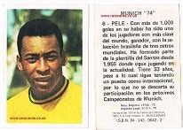 Biography Of Pele In Spanish | pele brazil football cards football trade cards pel 233
