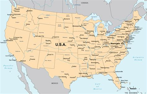America Maps by Map Of America Exportamerica Com