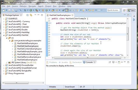 pattern java list java hashset clear method exle