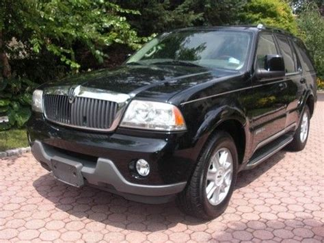 purchase used 2004 lincoln aviator awd luxury suv black