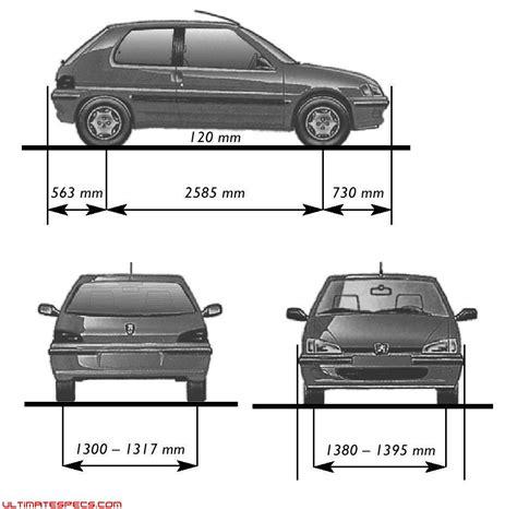 peugeot 106 dimensions index of carblueprints 8