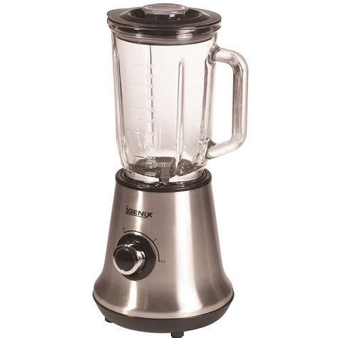 Blender Glass igenix ig8310 glass jug blender stainless steel igenix
