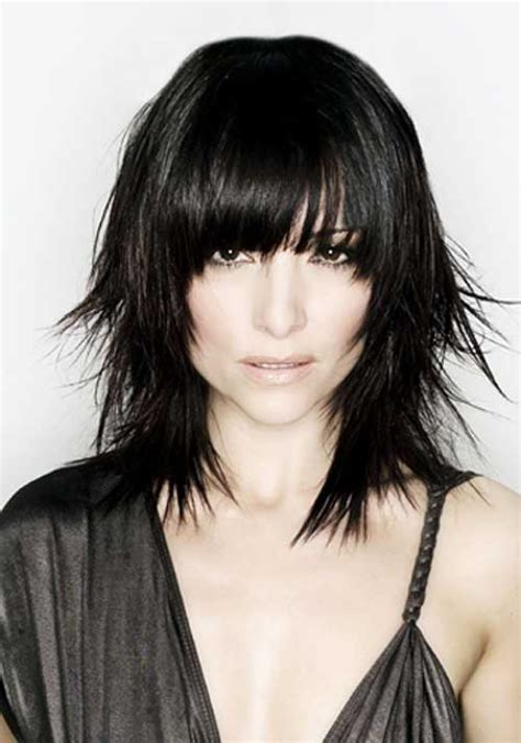 short layered choppy bobs with side bangs 10 good choppy bob with bangs bob hairstyles 2017