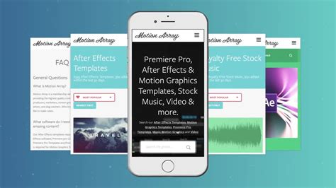 Phone App Promo After Effects Templates Motion Array After Effects App Template