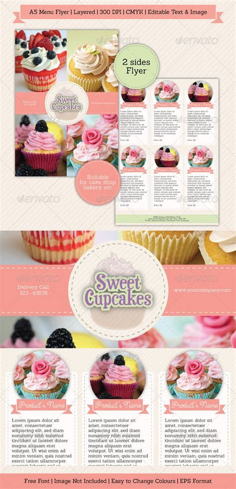 17 Best Images About Brochure Bakery On Pinterest Tri Fold Brochure Template Pastries And Cake Brochure Template Free