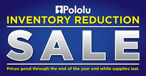 pololu year end inventory reduction sale