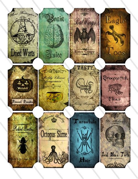 printable halloween jar labels 146 best apothecary labels images on pinterest halloween
