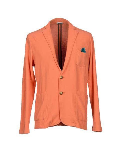 Blazer Orange bark blazer in orange for lyst