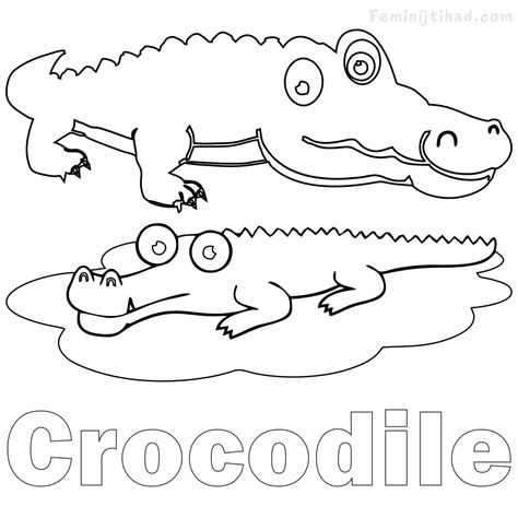 crocodile coloring pages crocodile coloring pages printable coloring pages for