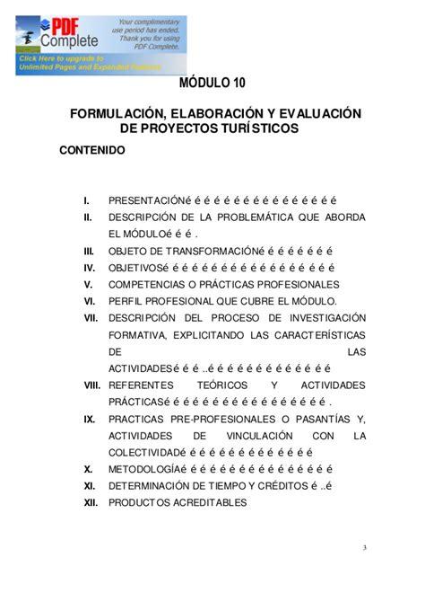 Lu Brio Rs m 243 dulo 10 formulaci 243 n elaboraci 243 n y evaluaci 243 n de