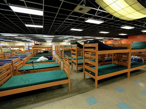 the shelter inside the massive silicon valley homeless shelter the