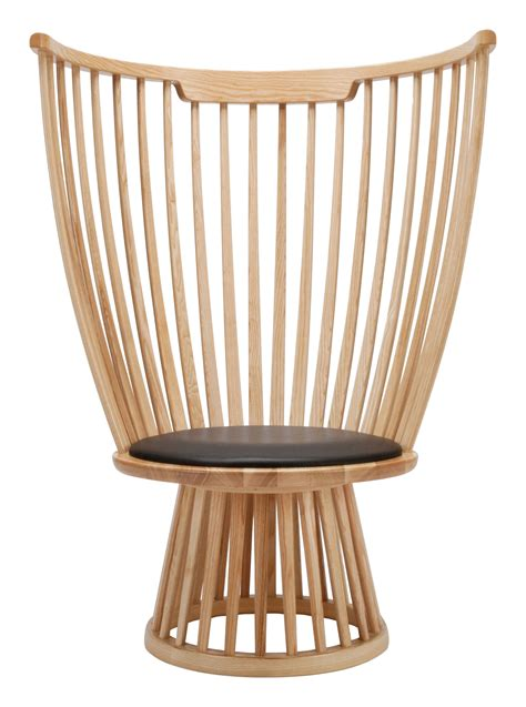 armchair fan fan chair armchair h 112 cm wood leather natural by