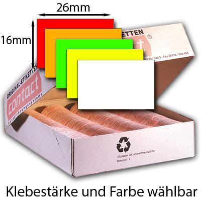 Etiketten Contact by Rechteckige 26x16mm Etiketten F 252 R Preisauszeichner