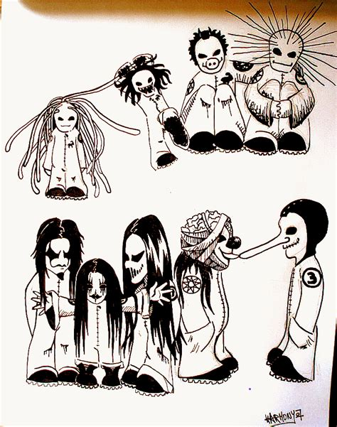 Slipknot By Harmony7 On Deviantart Slipknot Coloring Pages