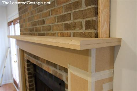 fireplace mantel how to brick buidling projects