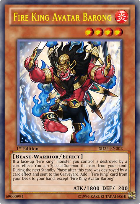 yu gi oh fire king avatar kirin fire king avatar barong by kai1411 on deviantart