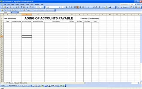account payable account payable template